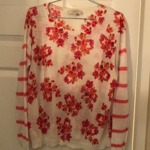 Coral Floral Sweater